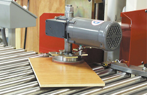 Clamp turners rotate panels based on part recipe.