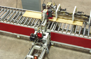 Overhead view of Concrete Form Drilling and Routing Machine
