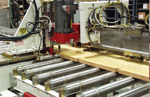 Closeup of Concrete Form Drilling and Routing Machine