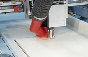 Sink Cutout Routers in an Automated Laminate Countertop Line