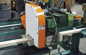 Flying cutoff saw cuts at desired locations and lengths