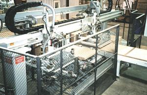 High speed flooring feeding system