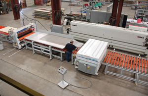 Semi Automatic Laminating for Wood and Related Industries
