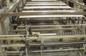 Creative Automation Lumber Feeder and Stacker during testing