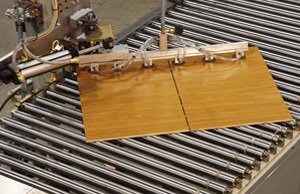 Vacuum turner rotating split panels