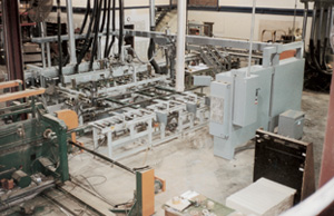 Overall view of Creative Automation Plaque Routing and Sawing line