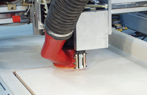 Sink cutout router is CNC controlled